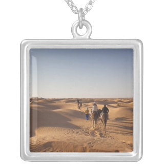 Tunisia, Ksour Area, Ksar Ghilane, Grand Erg 7 Silver Plated Necklace