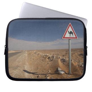 Tunisia, Ksour Area, Ksar Ghilane, Oil Pipeline Laptop Sleeve