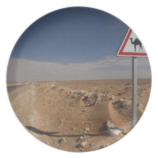 Tunisia, Ksour Area, Ksar Ghilane, Oil Pipeline Plate