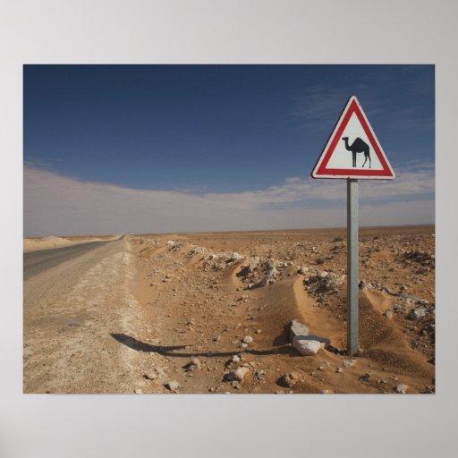 Tunisia, Ksour Area, Ksar Ghilane, Oil Pipeline Print