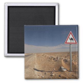 Tunisia, Ksour Area, Ksar Ghilane, Oil Pipeline Square Magnet