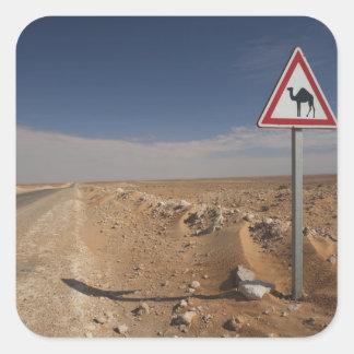 Tunisia, Ksour Area, Ksar Ghilane, Oil Pipeline Square Sticker