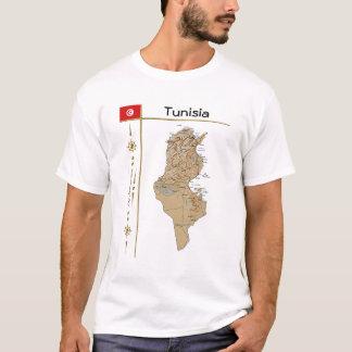 Tunisia Map + Flag + Title T-Shirt