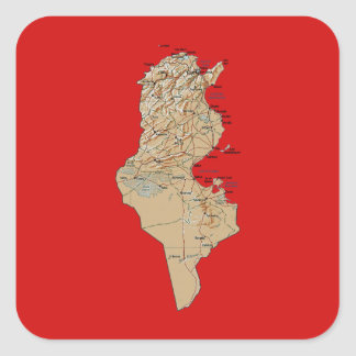 Tunisia Map Sticker