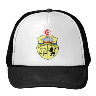 Tunisia Official Coat Of Arms Heraldry Symbol Cap