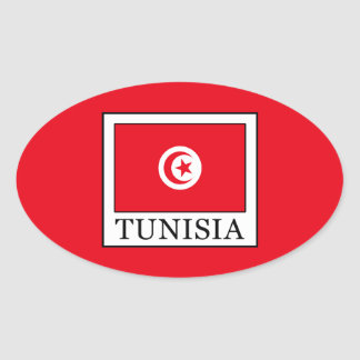Tunisia Oval Sticker