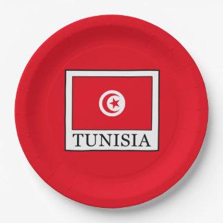 Tunisia Paper Plate
