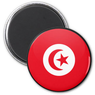 Tunisia quality Flag Circle Magnet
