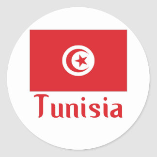 Tunisia Round Sticker