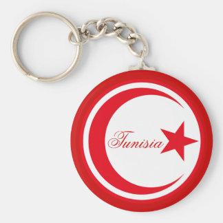 Tunisia - Roundel Basic Round Button Key Ring