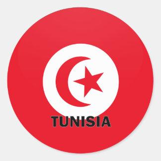Tunisia Roundel quality Flag Classic Round Sticker