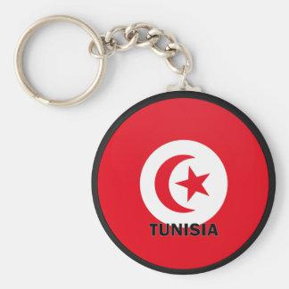 Tunisia Roundel quality Flag Key Ring