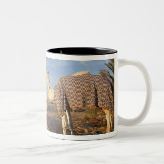 Tunisia, Sahara Desert, Douz, Great Dune, camel, Two-Tone Coffee Mug
