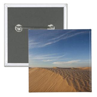 Tunisia, Sahara Desert, Douz, Great Dune, dusk 15 Cm Square Badge