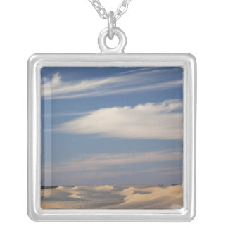 Tunisia, Sahara Desert, Douz, Great Dune, dusk 2 Silver Plated Necklace
