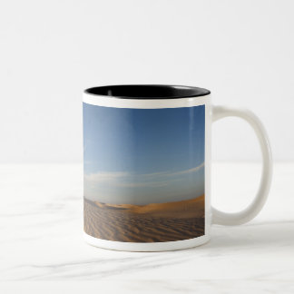 Tunisia, Sahara Desert, Douz, Great Dune, dusk Two-Tone Coffee Mug
