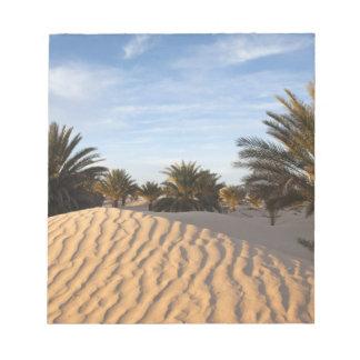 Tunisia, Sahara Desert, Douz, Great Dune, palm 2 Notepad