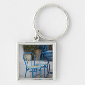 Tunisia, Sidi Bou Said, cafe chairs Key Ring