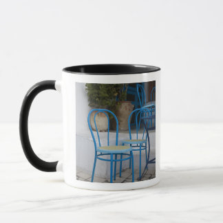 Tunisia, Sidi Bou Said, cafe chairs Mug