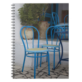 Tunisia, Sidi Bou Said, cafe chairs Spiral Notebook