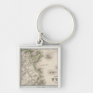 Tunisia Silver-Colored Square Key Ring