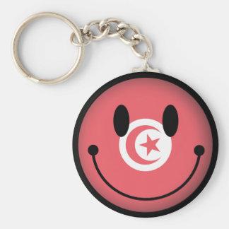 Tunisia Smiley Basic Round Button Key Ring