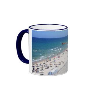 Tunisia  Sousse Beach Ringer Mug