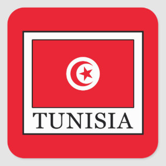 Tunisia Square Sticker