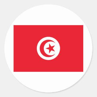 Tunisia TN Classic Round Sticker