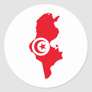 Tunisia TN Round Sticker