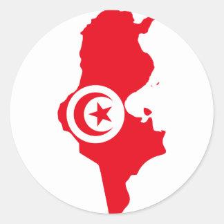 Tunisia TN Round Stickers