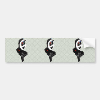 Tunisia Trendy Peace Sign with Tunisian map Bumper Sticker
