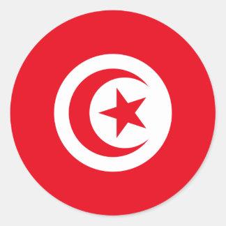 Tunisia/Tunisian Flag Round Sticker