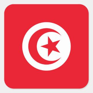 Tunisia/Tunisian Flag Square Sticker