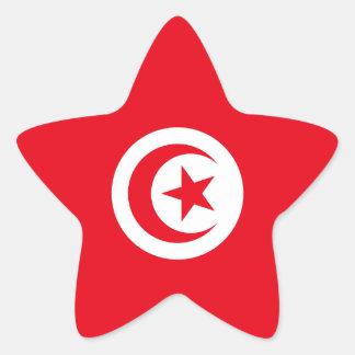 Tunisia/Tunisian Flag Star Sticker