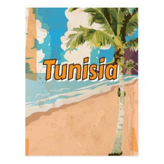 Tunisia Vintage vacation Poster Postcard