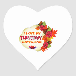 Tunisian Boyfriend Heart Sticker