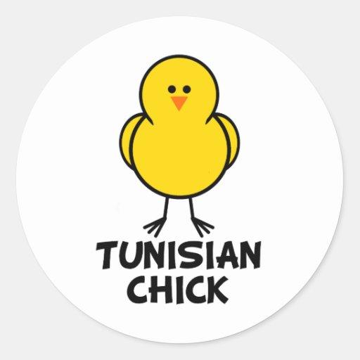 Tunisian Chick Round Stickers