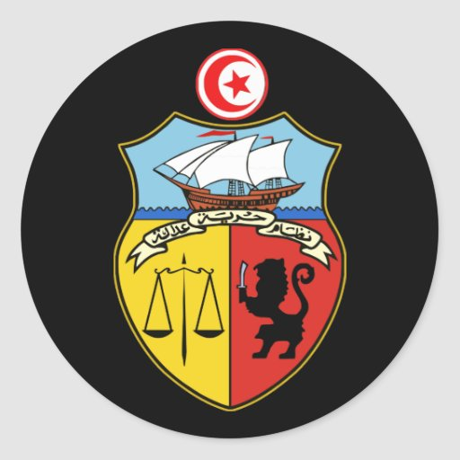 Tunisian COA Round Sticker