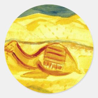 Tunisian desert round sticker