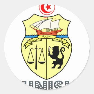 Tunisian Emblem Round Sticker
