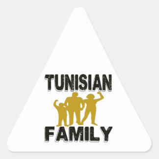 Tunisian Family Triangle Stickers