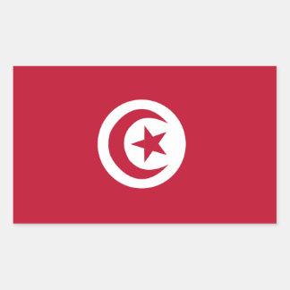 Tunisian flag rectangular sticker