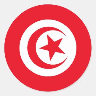 Tunisian Flag Round Sticker