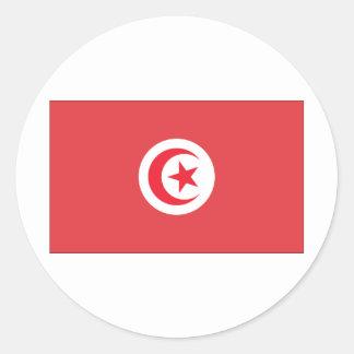 Tunisian Flag Round Stickers