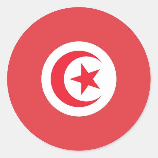 Tunisian Flag Stickers