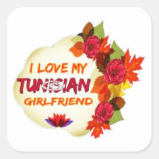 Tunisian Girlfriend Designs Square Sticker