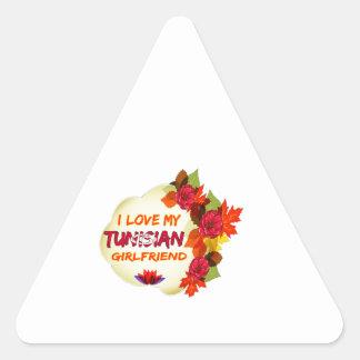 Tunisian girlfriends designs triangle sticker