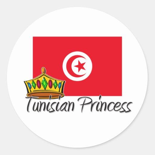 Tunisian Princess Round Stickers
