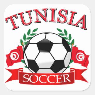 Tunisian Soccer Designs Square Sticker